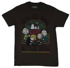 Peanuts Mens T-Shirt  - It's All Good in Hood Charlie Snoopy Linus & More