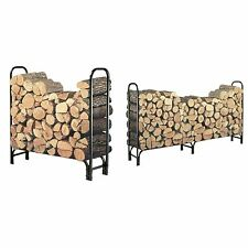 Indoor Log Rack Wood Landman Fire Outdoor 4 Feet Fireplace Storage Patio Grate