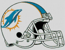 Cross stitch chart, Pattern, Miami, Dolphins, NFL, US, American, Football