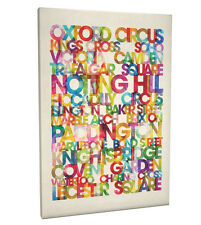 London Destinations Text Map Box Canvas and Poster Print (20)