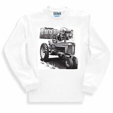 Long Sleeve T-shirt Adult Youth Country Decorative Vintage Iron Tractor