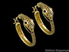 Ouroboros Hoop Earrings 14k Yellow Gold