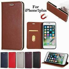 Magnetic Leather PC Card Stand Case Strong Adsorption Cover For iPhone 6S 7 Plus