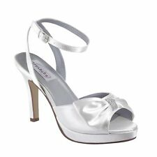 Dyeables Brit Bridal Shoes with Bow and Bling, Bridal Heels, wedding shoes
