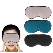 Soft Silk Sleep Rest Eye Mask Padded Shade Cover Travel Relax Aid Blindfolds