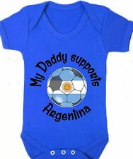 My Daddy Supports Brazil Baby Romper Football/Soccer Ball Custom Flag Argentina