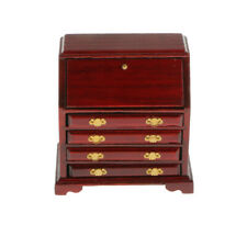 1/12 Dollhouse Miniature Living Room Furniture Decor Wooden Table Chair Cabinet