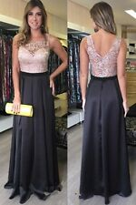 Formal Lace Custom Made Wedding Party Gown Handmade Long Prom Evening Dress