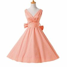 50s Vintage Retro Robe Pin Up Swing Polka Dot Rockabilly Dress