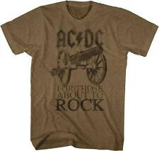 ACDC About To Rock Malcolm Angus Young Guitarist Classic Rock Band Adult T-Shirt