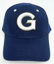 GEORGETOWN HOYAS NAVY NCAA VINTAGE FITTED SIZED ZEPHYR DH CAP HAT NWT DEADSTOCK