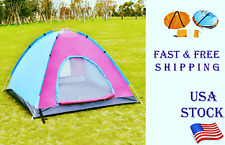 Outdoor Camping Windproof Rainproof Breathable 2-3 Persons Tent Folding Portable