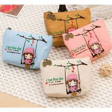 New Canvas Coin Bag Lovely Girls The Swing Holder Purse Small Zipper Wallet