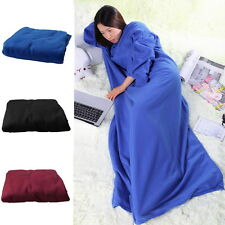 Supper Home Winter Warm Fleece Snuggie Blanket Robe Cloak With Sleeves Lot FBR