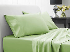 1000TC SAGE SOLID AMERICAN BEDDING SHEETS COLLECTION 100% EGYPTIAN COTTON - SG