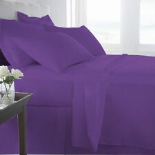 1000TC PURPLE SOLID AMERICAN BEDDING SHEETS COLLECTION 100% EGYPTIAN COTTON - PU