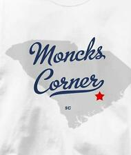 Moncks Corner, South Carolina SC MAP Souvenir T Shirt All Sizes & Colors