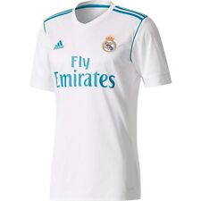 adidas Real Madrid 2017 - 2018 Home Soccer Jersey Brand New White / Sky