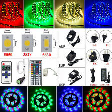 5-20M 300-1200 LED Flexible Strip Light SMD 3528 5050 5630 +Remote +Power Supply