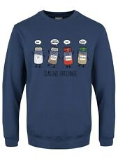 Spicy Seasons Greetings Men's Airforce Blue Christmas Sweater