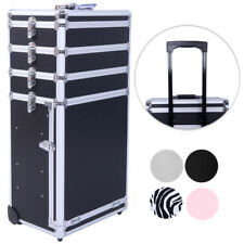 Pro 4in1 Aluminum Rolling Makeup Cosmetic Train Case Lockable Box Trolley 4Color