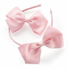 New Ladies 2 piece Plain Bow Headband Bow Hair Clip Hair Accessories