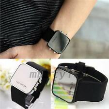 Women's Accessories New Design Stainless Steel Watch LED Mirror