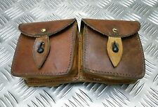 Genuine Vintage Military Issue Double Leather Ammo / Utility Pouch Un-issued