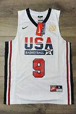Michael Jordan #9 Team USA Jersey New Dream Team Olympic Classic White 1992