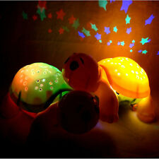 Turtle Moon & Stars LED Night Light Projector Music Lamp Room Decor For Kid Gift