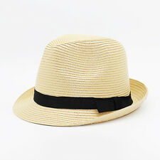 Female Summer Floppy Sun Visor Caps Seaside Beach Wide Brimmed Straw Hat