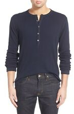 BNWT John Varvatos Variegated Long Sleeve Jersey Henley Size XL MSRP $128