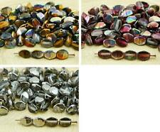 60pcs Crystal Metallic Half Pinch Bicone Faceted Spacer Czech Glass Beads 5mm