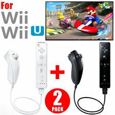 Remote and Nunchuck Controller Set For Nintendo Wii Game Black/White BEUS