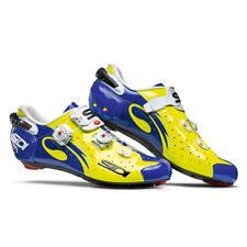 SIDI Wire Carbon Road Cycling Shoes - Yellow Fluo/Blue Color, Size 38~46 EUR