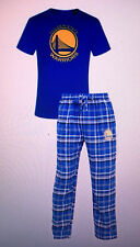 Golden State Warriors Men's 2 Piece Sleep Set T-shirt & Flannel Pajama - NBA Lic