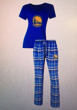 Golden State Warriors Ladies 2 Piece Sleep Set V-Neck Tshirt & Flannel Pajama
