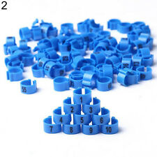 100Pcs Bird Poultry Parrot Chicks Plastic 1-100 Numbered Leg Bands Rings Tidy