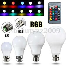 3/5/10/20W E27 B22 RGB 16 Colors Changing LED Light Lamp Bulb IR Remote Control