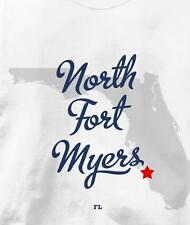 North Fort Myers, Florida FL MAP Souvenir T Shirt All Sizes & Colors