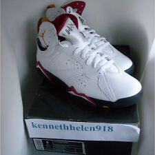 NEW 2006 NIKE AIR JORDAN VII 7 RETRO WHITE BLACK CARDINAL RED BRONZE SIZE 9