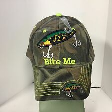 Baseball Cap BITE ME FISHING Official Licensed Hat New - FREE SHIPPING