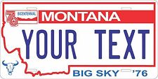 Montana 1976-90  Personalized Custom License Plate Car Motorcycle Bike