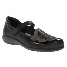 Naot Motu Black Womens Comfort Mary Jane Sandals Smooth Leather