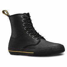 Dr.Martens Winsted 8-Eyelet Black Mens Lace Up Ankle Boots Greasy Lamper Leather