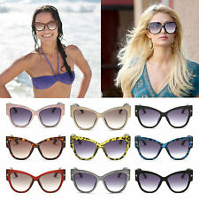 New Stylish Womens Ladies Fashion Vintage Cat-Eye Big Frame Sunglasses FJRB