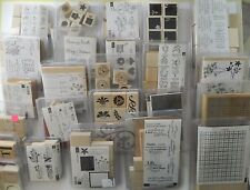 NEW/EUC Stampin' Up Stamp Sets- You Choose- Wood Blocks- RETIRED- Combine Ship