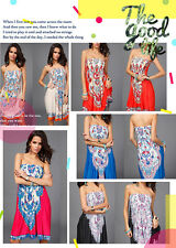 New Women Strapless Floral Print dress Summer Sexy Sleeveless dress  Multi Color