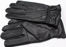 BLACK LAMBSKIN LEATHER WOMEN'S WINTER DRIVING EVERYDAY GLOVES M S L XL