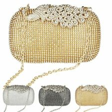 Women Evening Bag Party Wedding Bridal Clutch Handbag Rhinestone Cosmetic Purse